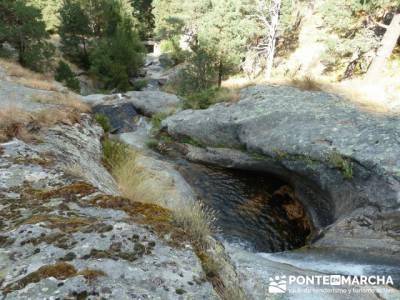 Marmitas _ Chorro de Navafría - rutas senderismo sierra de madrid; excursiones en madrid